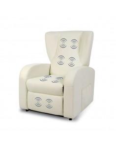 Vibromassaggio con 8 motori su schienale seduta e poggiapiegi